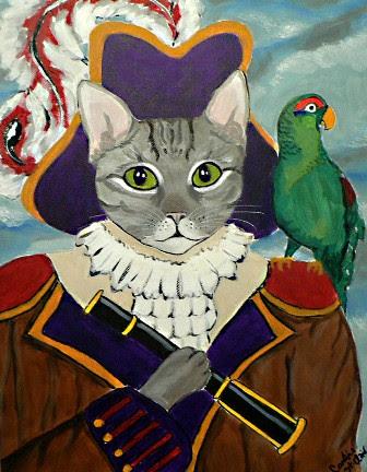 Pirate Tabby Cat