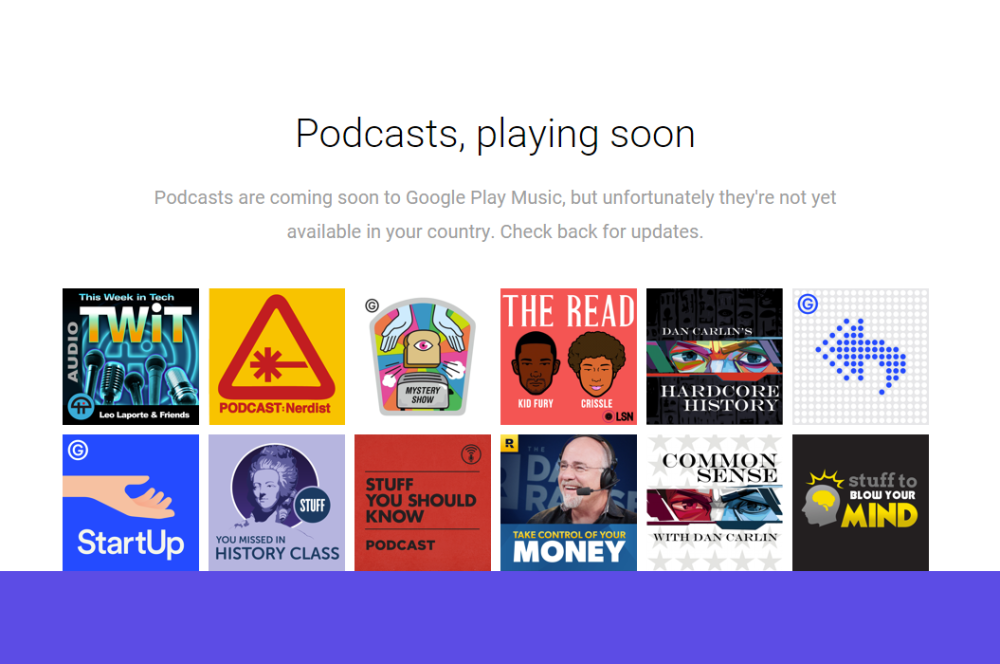 podcast google play musique