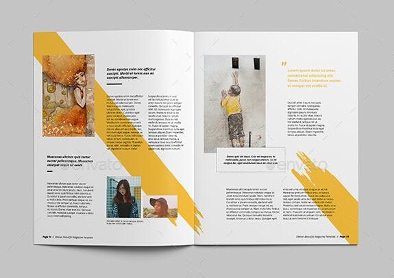 art magazine template 9