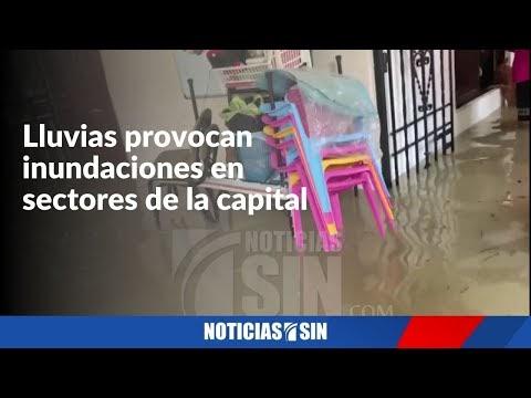 (VÍDEO) LLUVIAS PROVOCAN INUNDACIONES EN SECTORES DE LA CAPITAL