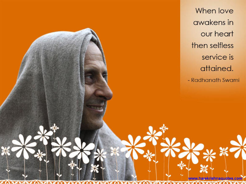 Selfless Service Spiritual Quotes By Iskcon Desire Tree