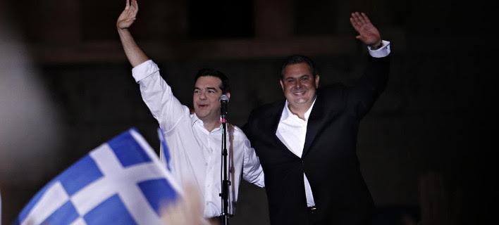 ΣΥΡΙΖΑ-ΑΝΕΛ 155 έδρες -Δευτέρα μεσημέρι η εντολή σχηματισμού κυβέρνησης