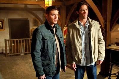 Dean and Sam Winchester confront evil in SUPERNATURAL.