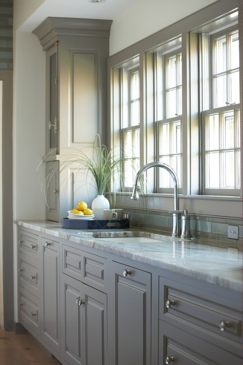 White Subway Tile Kitchen Backsplash Grey Grout Herringbone