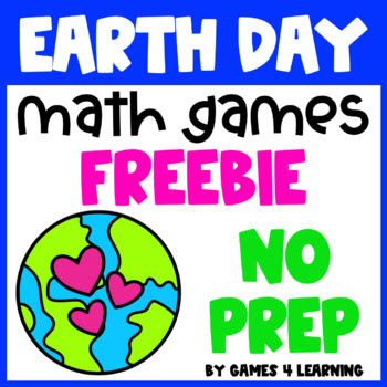 Earth Day Math Games Freebie