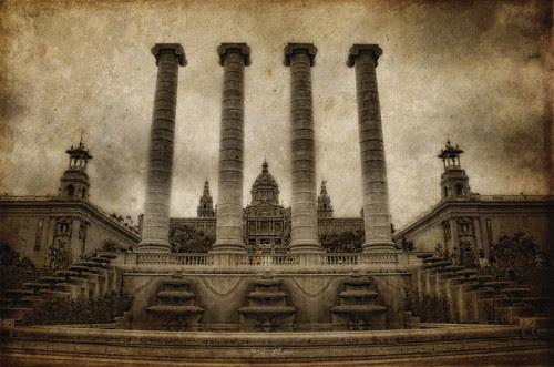 Las 4 columnas de Puig i Cadafalch, Barcelona