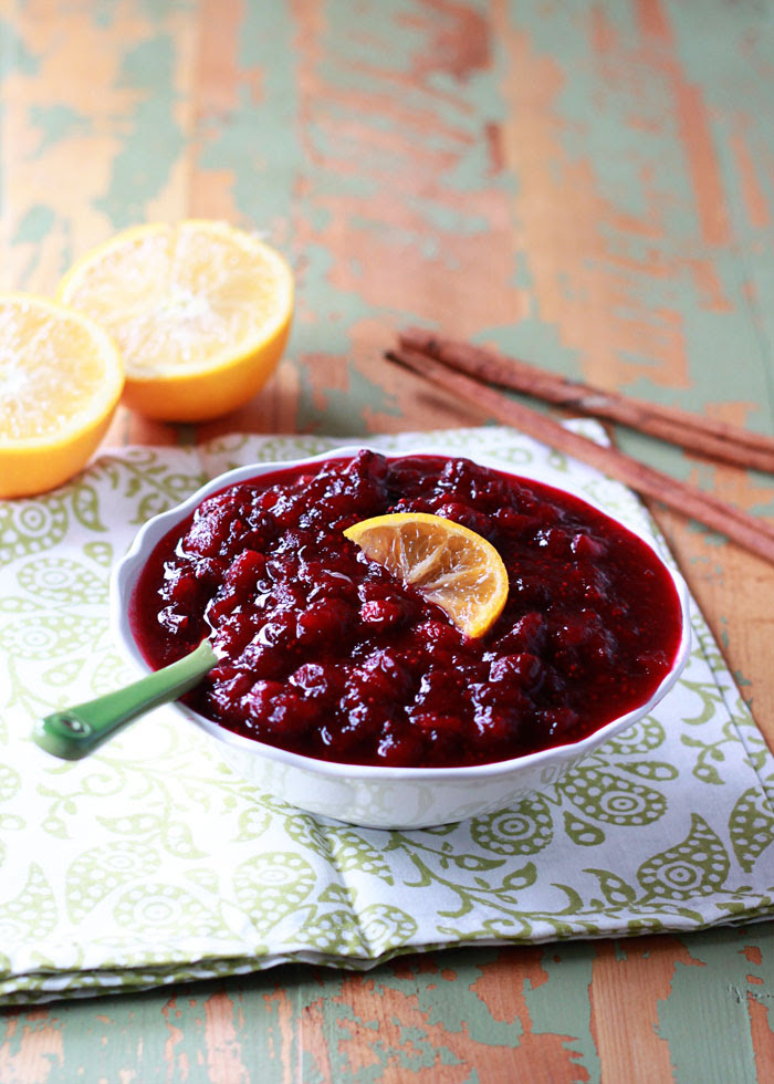 Orange Maple Cranberry Sauce | Kitchen Treaty