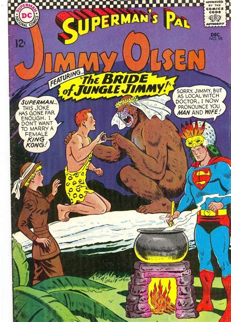 "Crazy Comic Cover: Jimmy Olsen #98 ""The Bride of Jungle"