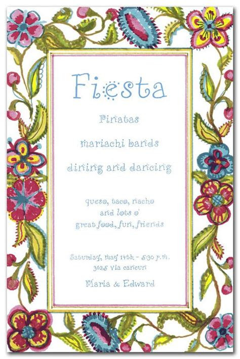 spanish crewel  invites  stuff birthday party
