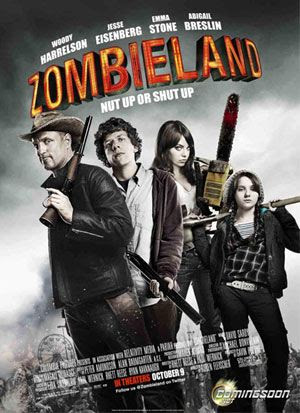 ZOMBIELAND theatrical movie poster.