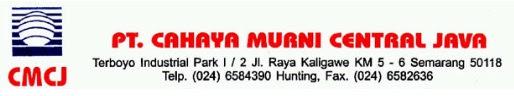 Lowongan Kerja di PT. Cahaya Murni Central Java - Semarang