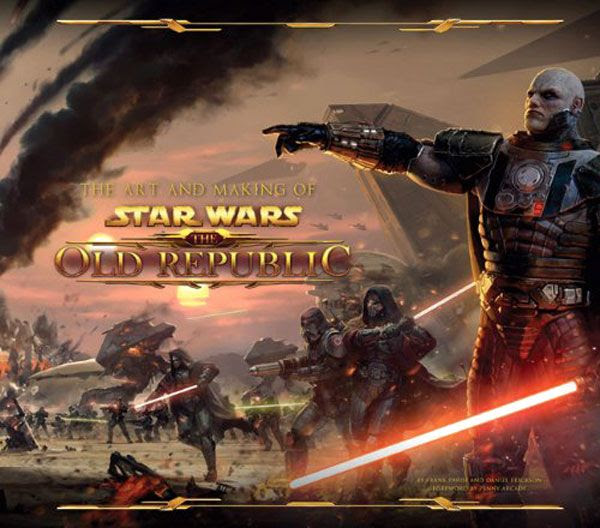 The cover illustration for THE ART AND MAKING OF STAR WARS: THE OLD REPUBLIC book.