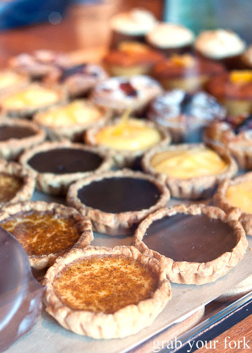 Custard tarts, chocolate tarts and lemon tarts at The Grounds of Alexandria