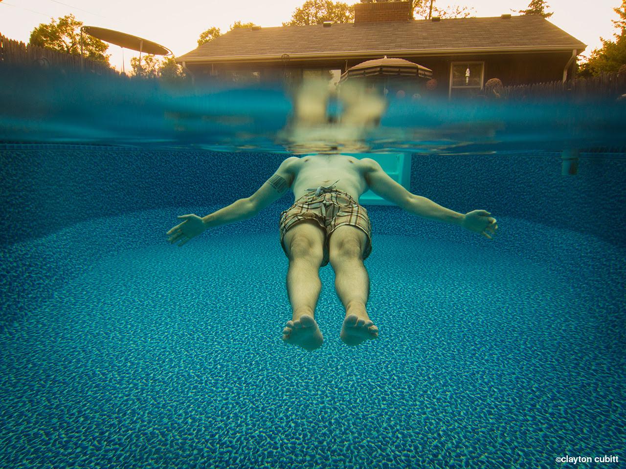 Floating in Aunt Betty's backyard pool, Minneapolis  (3205)
