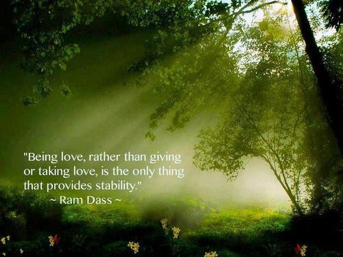 Being In Love Rather Than Giving Or Taking Love Is The Only Thing