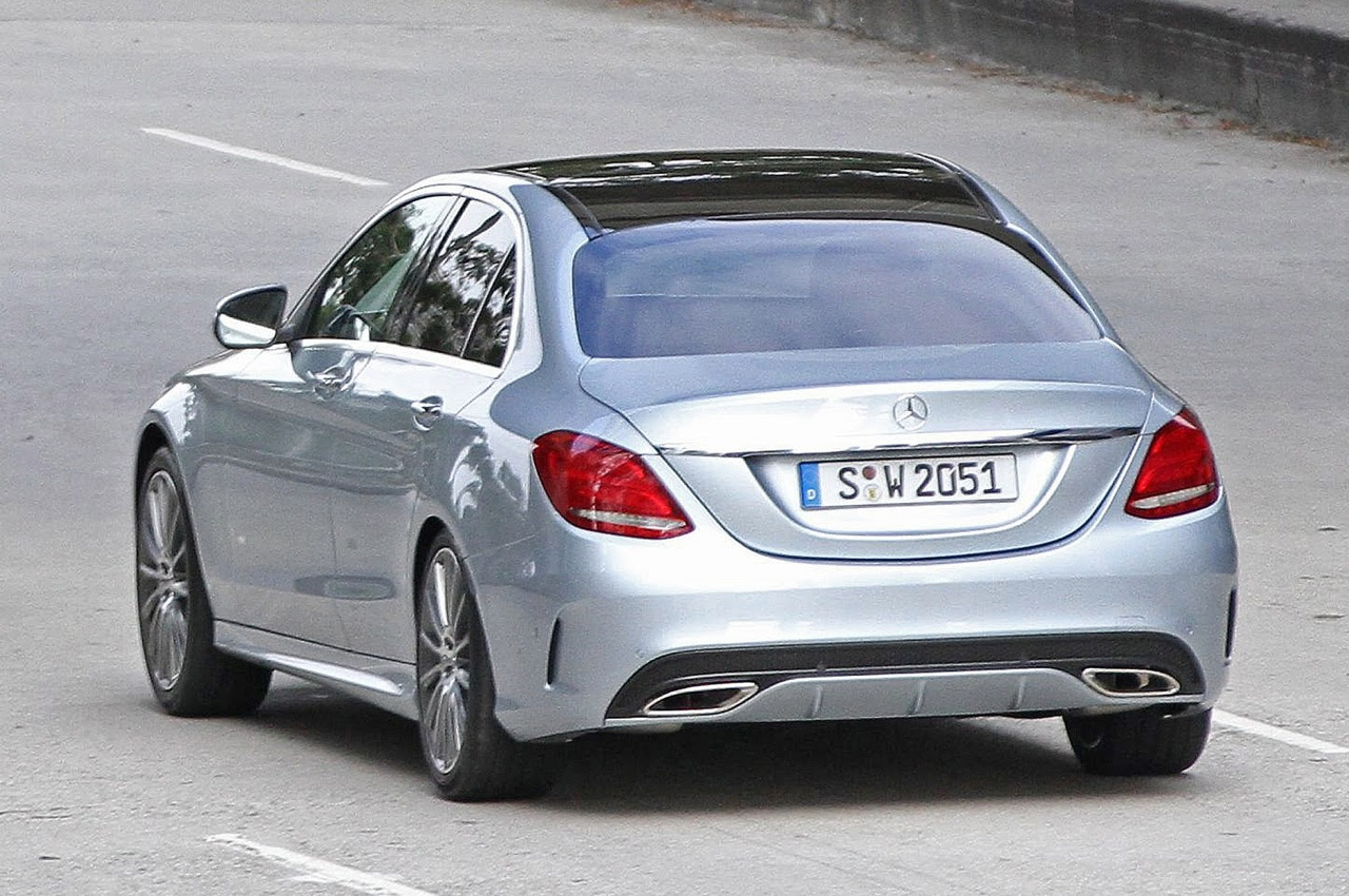 Mercedes Cars - News: 2014 C-Class spotted undisguised