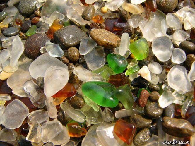 صور : الشاطئ الزجاجي في كالفورنيا
