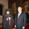 The Prime Minister of the Russian Federation M. M. Kasyanov Visited the Cathedral of the Dormition of the Mother of God in Budapest