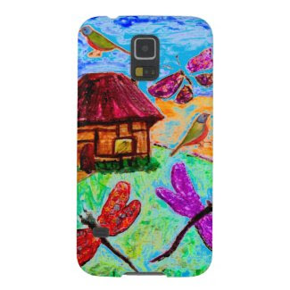Fanciful Folk Art on Samsung Galaxy S5 Case