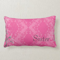 Vintage Sister Throw Pillow