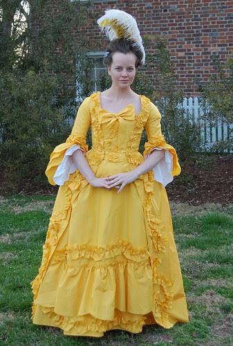 Yellow Robe Francaise, or Sacque