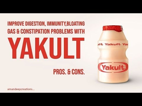 Yakult - Improve Digestion, Immunity, Gas & Constipation Problems