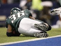 Brian Westbrook decides a touchdown is unneeded