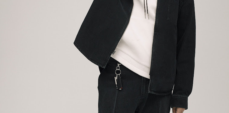 Black Bomber Jacket With White Hoodie