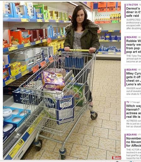 Zara pode ter uma orgasmo ao pegar um alimento no supermercado