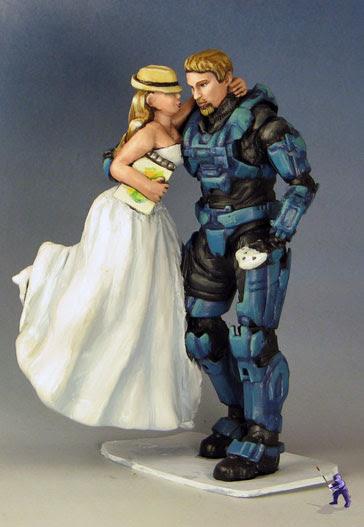 Master Chief and Bride Cake Topper