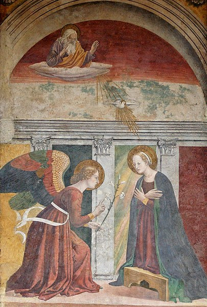 Archivo:Annunciation Melozzo da Forli Pantheon.jpg