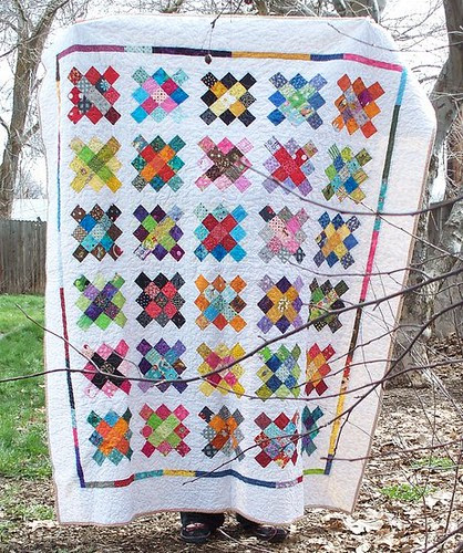 finished granny square quilt