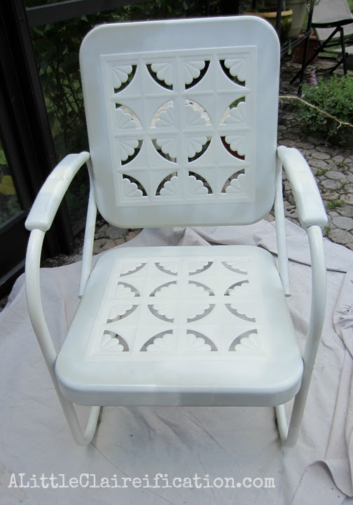 Metal Patio Furniture Makeover A Restoration Hardware Rescue A Little Claireification