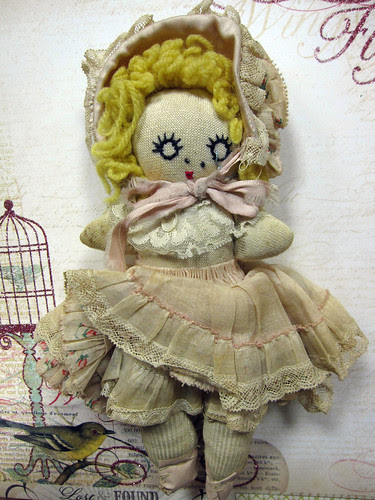 Miss Muffett, Up-Cycled Sock Doll! 8