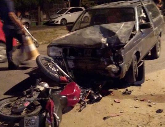 Acidente aconteceu no cruzamento da BA-120 com a estrada do Boi Vleho e a Rua Joaquim Andrade de Goes