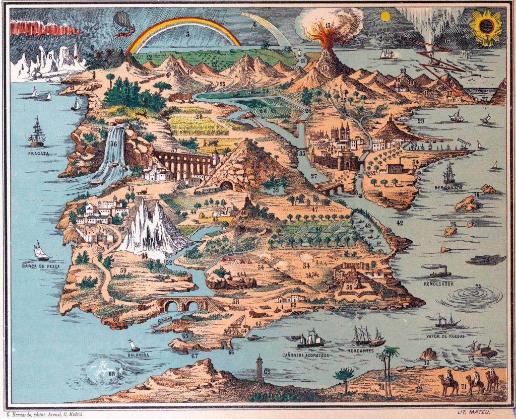 Geografía elemental: nuevo método para uso de las escuelas de instruccion primaria : enseñanza directa sobre los mapas sin necesidad de libros (1897)