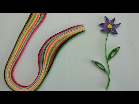 Kağıt kıvırma sanatı Quilling ile çiçek yapımı