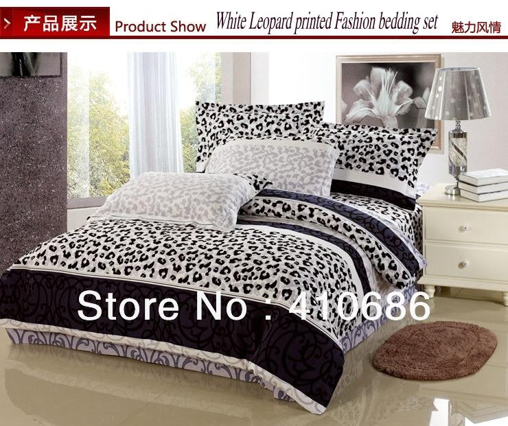 Hot Red Rose Leopard circle printed Bedding set Black Comforter ...