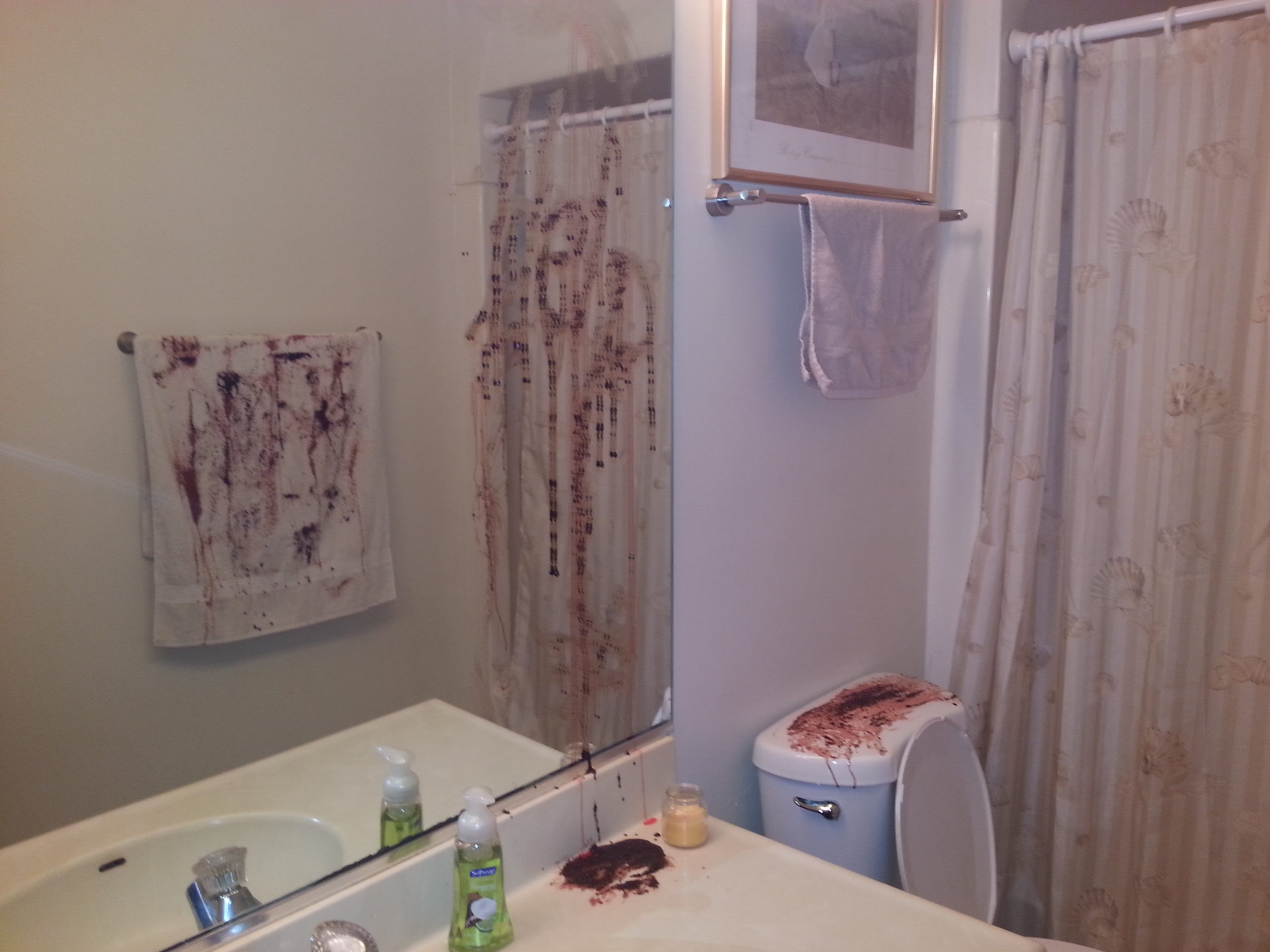 DIY Halloween Bathroom Decor. Or How Chrissy is SERIOUSLY ...