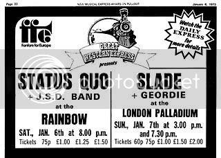 Slade,Palladium,1973,Fanfare For Europe