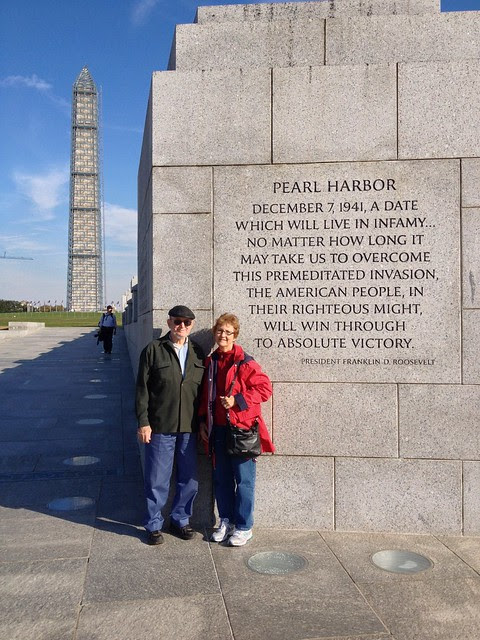 WWII Memorial and Washington Monument