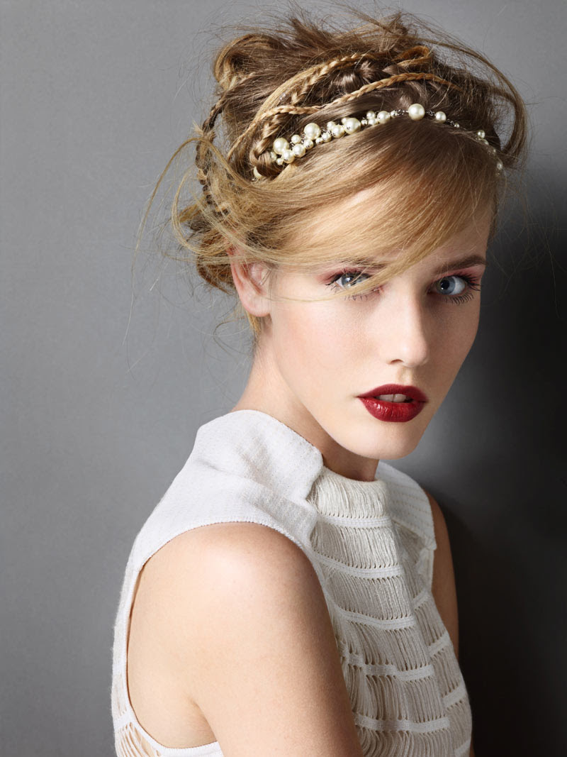 AW03 Michelle Wears Glam Headwear for Madame Figaro by Alexandre Weinberger