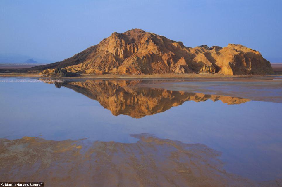 Tranquil: Lake Logipi is a saline, alkaline lake lying in the arid Suguta valley in northern Kenya