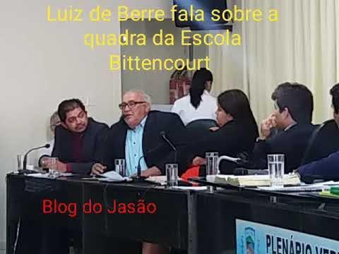 Vereador Luiz de Berre cobra providências ao governador Robson Farias, sobre o abandono da quadra da Escola de Tempo Integral Bittencourt.