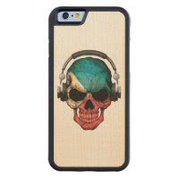 Customizable Filipino Dj Skull with Headphones Carved® Maple iPhone 6 Bumper
