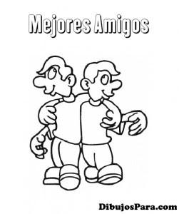 Dibujo De Mejores Amigos Dibujos Para Colorear