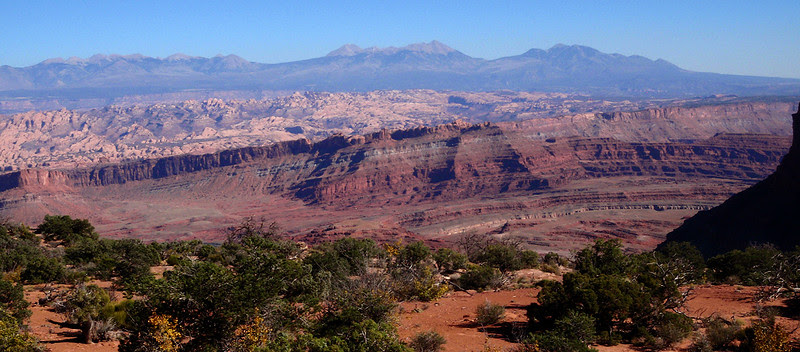 Viewing Behind the Rocks from the Dead Horse Point State Park area of Moab, Utah.