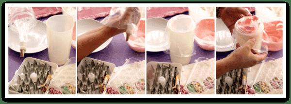 Cómo rellenar la manga pastelera