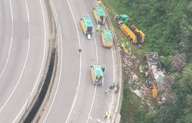 Acidente com ônibus na BR-376 em Guaratuba deixa 21 mortos e 33 feridos, diz PM