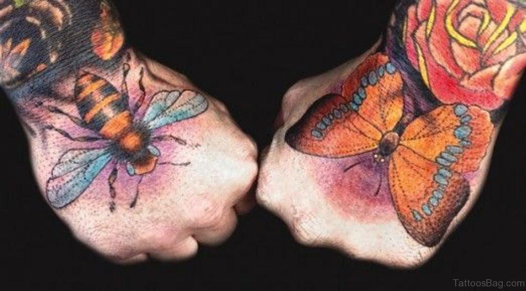 36 Cool Bee Tattoo On Hand